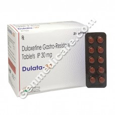 Dulata 30 mg, Duloxetine 30 mg, Buy Duloxetine, Duloxetine online