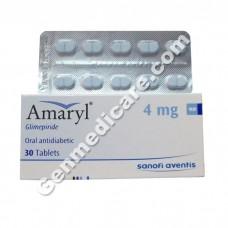 Amaryl 4 mg Tablet, Diabetes