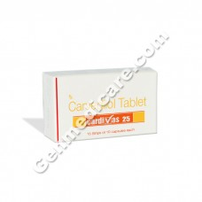 Cardivas 25 mg Tablet