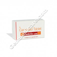 Cardivas 3.125 mg Tablet, Anti Anginal