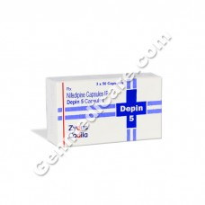 Depin 5 mg Capsule, Anti Anginal