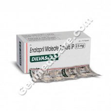 Dilvas 2.5 mg Tablet, Heart & Blood Pressure