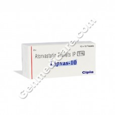 Lipvas 10 mg Tablet, Cholesterol Reducer