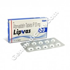 Lipvas 20 mg Tablet, Cholesterol Reducer