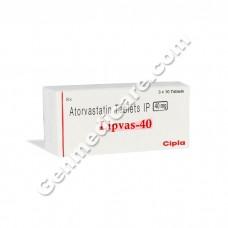 Lipvas 40 mg Tablet, Cholesterol Reducer