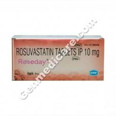 Roseday 10 mg Tablet, Cholesterol Reducer