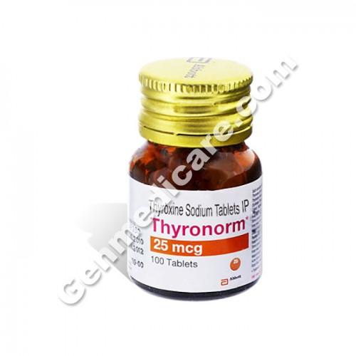 Buy Thyronorm 25 Mcg Tablet Thyroxine Genmedicare Com