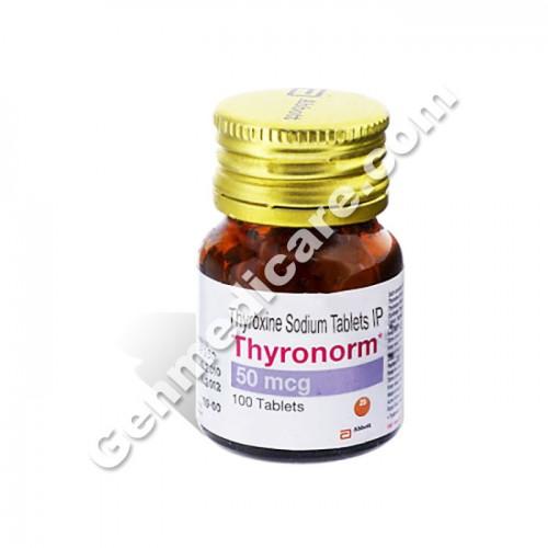 Buy Thyronorm 50 Mcg Tablet Thyroxine Genmedicare Com