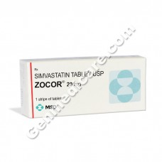 Zocor 20 mg Tablet, Cholesterol Reducer